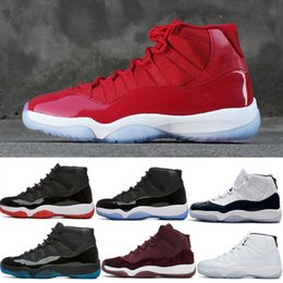 Wholesale Basketball C - Newest 11 XI Win Like 96 Men Basketball Shoes Bred Concord Space Jam Heiress Gym Red Navy Blue 11s 72-10 Boots Sneakers