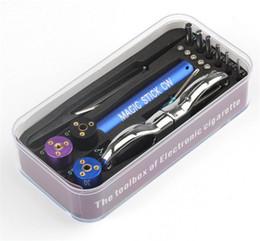 Máquina de jigging electrónico online-RDA herramienta pre bobina varilla mágica CW caja master vape jig kit 6 en 1 máquina de bobinado de alambre kit koiler mecha e electrónica cigarrillo mods FJ728