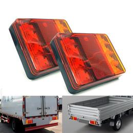 2019 luz de advertencia 24v Luces de advertencia de luces traseras de luces traseras traseras de camiones de automóviles Luces traseras luces traseras a prueba de agua para remolques caravanas DC 12V 24V rebajas luz de advertencia 24v