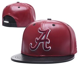 Wholesale New Stocking Styles - 2018 New style fashion Caps Alabama Snapback Caps College Hat Cheap Hats Mix Match Order All Caps in stock Top Quality Hat free shipping