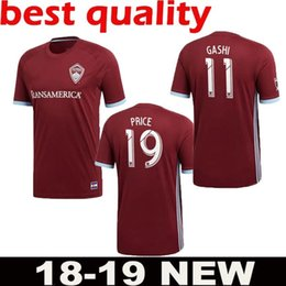 12592eb80 TOP QUALITY AIGNER 18 19 Colorado jersey soccer home red 2018 2019 MLS  BADJI PRICE ACOSTA HAIRSTON Rapidss GASHI away yellow football shirt