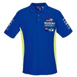 Wholesale race gsxr - New 2018 Moto GP For Team ecstar Mens Polo Shirt Motor Sport GSXR Men's Race Polo Shirt Racing Clothing T-shirt