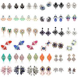 Wholesale Cubic Zirconia Clip Earrings - 20 Styles Crystal Rhinestone Ear Clip Dangle Earrings Designer Jewelry Earrings Fashion Stud Earring Jewelry Earrings Mothers Day Gifts