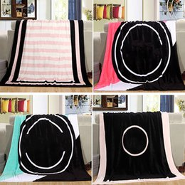 Wholesale Thin Summer Quilts - Summer Velvet Pink Blanket 130*150cm Coral Fleece Beds Blanket For Child Thin Air Condition Letter Serect Beach Cover Throw Quilt TY7-174