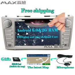 Wholesale Camry Dash - 2din 2G+16G Car DVD Player for Toyota CAMRY AURION v40 2007 2008 2009 2010 2011 with Radio BT swc GPS map 4G WIFI