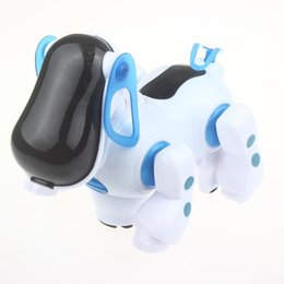 Wholesale Walking Toys Babies - Electronic Robot Dog Lovely Music Shine Intelligent Robot Walking Dog Puppy Action Toy Pet Kids Baby with Music Light FSWOB