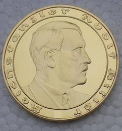 Wholesale Germany Coins - 5Pieces  lot Gold-plated commemorative 1933 heads of state of Germany diameter of 40 mm Europe souvenir COINS COINS
