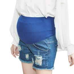 d7b88c294881d Denim Maternity Shorts Jeans For Pregnant Women Clothes Pregnancy Shorts  Nursing Prop Belly Breeches Vetement Grossesse