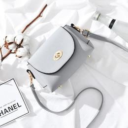 Wholesale Buckle Messenger Bags - 2018 Women Bags Female Shoulder Messenger Bag Personality Simple Fashion Metal Buckle PU Purses Mobile Phone Handbags Crossbody Bags