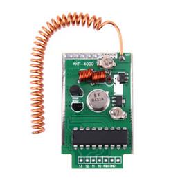 telecomando 9v Sconti Telecomando senza fili ALLOYSEED 433Mhz ad alta potenza DC 9V 4 km telecomando senza fili Modulo emettitore trasmettitore Componente componente
