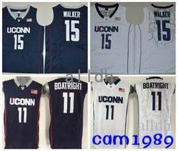 8445e99cb9a 2018 Kemba Walker Uconn Huskies College Basketball Trikots 15 Kemba Walker  11 Ryan Boatright Hemden Genähte Universität Basketball Jersey