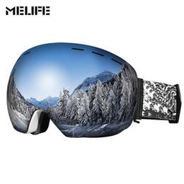 bd701327a2b MELIFE Windproof Ski Goggles Double Lens Snowboard Goggles UV400 Protection  Anti-fog Ski Glasses for Men   Women Snow Eyewear anti far on sale