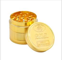 2019 encendedores de oro 40 Mm4 Layer Gold Cigarette Grinder Gold Cigarette Lighter encendedores de oro baratos