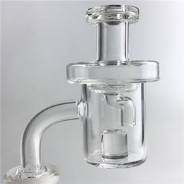 Wholesale female thermals - Quartz Core Reactor Banger Thermal Banger Domeless Quartz Nail with 10mm 14mm Male Female Evan Shore Honey Bucket for Glass Water bong