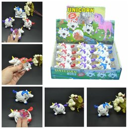 Wholesale funny stress - 12pcs lot Funny Squishy Unicorn Grape Ball Beads Vent Mesh Ball Squeeze Decompression Anti Stress Reliever Children Kids Novelty Toy AAA580