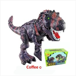 Wholesale plastic dinosaurs large - 2017 Fashion Gift Kid Electric toy large size walking dinosaur robot With Light Sound Tyrannosaurus Rex kids Educational toys