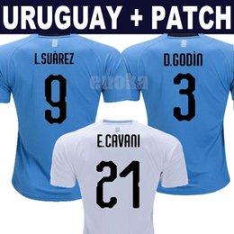 Wholesale uruguay soccer - 2018 World Cup Uruguay Jerseys L.SUAREZ E.CAVANI C.STUANI J.M.GIMENEZ 18 19 Uruguay national team jerseys thail football shirts free patch
