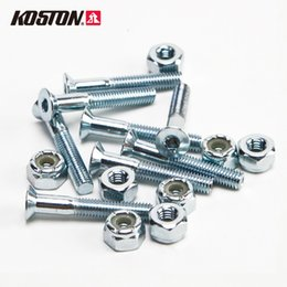Wholesale Round Nuts - Koston Hardware Set of 8 Nuts and Bolts Longboard 1.2 Inch Round Cross Deck Bolts Black 8 and Nuts AC303