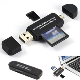 Micro USB OTG para USB 2.0 Adaptador SD Card Reader Para Android Phone Tablet PC EUA cheap usb multi adapter de Fornecedores de adaptador multi usb