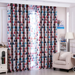 Wholesale Curtains Installation - Fashion Korean Style Full Light Shading Curtain Colorful Polyester Fiber Material Curtains For Living Room Decor Textiles 16 5yf Z