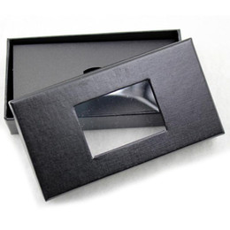 Wholesale tie gift box packaging - Classic Black Tie Box Bow Tie Necktie Gift Boxes Men's Tie Packaging Display Storage Cases 4 Styles Window Top ZA6082