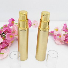 Wholesale Golden Vacuum - 100pcs hot sale luxury 15ml golden plastic vacuum bottle , wholesale gold colorunique15 ml plastic airless bottle