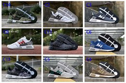 Wholesale Idea Style - New Hot EQT Cushion City Running Shoes Multi Color Military Style Design Ideas Fashion Men Outdoor Sports Shoes