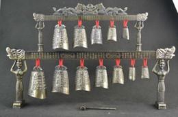 Velho instrumento on-line-RareChimes Old Collectible Decoração Copper Carve Instrumento Musical Clássico