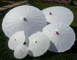 Chinesische weiße regenschirme online-Großhandel Billig Weißbuch Regenschirme Braut Hochzeit Sonnenschirme Chinesischen Stil Mini Handwerk Regenschirm DIY Malerei Hochzeit Regenschirm