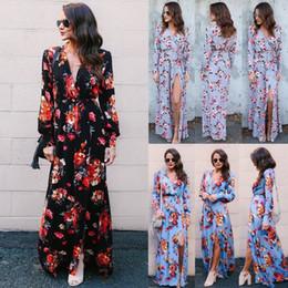 Wholesale bohemian swimwear - Dress Womens Holiday Sleeveless Ladies Maxi Long Summer Print Beach Dress Size 6-14 Swimwear for women
