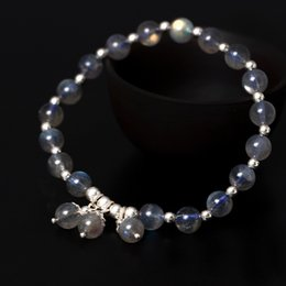 Wholesale moonlight jewelry - Moonstone jewelry Original design s925 sterling silver hand string girl natural moonlight stone bracelet silver jewelry wholesale