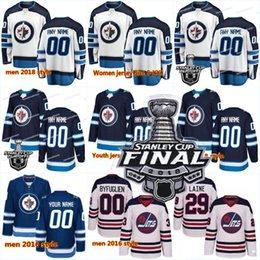 Wholesale new jersey jets - 2018 New 29 Patrik Laine Men 26 Blake Wheeler 33 D B 55 Mark Scheifele Winnipeg Jets Stanley Cup Playoffs Finals Hockey Jerseys
