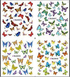 листовая фольга Скидка 1 sheet Nice Nail Art Sticker Water Transfer Stickers Butterfly Decals Decoration DIY Beauty Manicure Foil Wraps SABLE/M15-18