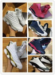 Wholesale High Cat Shoes - 2017 WITH BOX Retro 13 OG Black Cat Basketball Shoes 3M Reflect For Men Sports Training Sneakers High Quality Blackcat