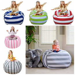 Wholesale Large Stuffed Animal Toys - 38 Inch Extra Large Stuffed Animal Storage Bean Bag Chair Portable Kids Clothes Toy Storage Bags 5 Colors 12pcs OOA4639