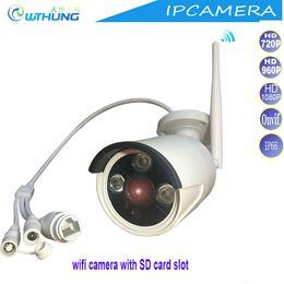 2019 cable de la webcam Inalámbrica con cable IP Wifi Cámara 720P 960P 1080P CMOS Sensor Soporte tarjeta SD Max64G detector de movimiento para seguridad IP WebCam monitor cable de la webcam baratos
