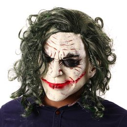 Canada C / Miracle The Dark Knight Thème Joker Masque Clown Latex Cosplay Costume Mascarade Kit Hommes Femmes Visage Complet Halloween Horreur Parti Masques Offre