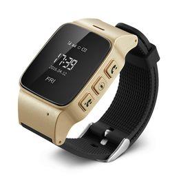 Wholesale Brand New Monitor - Brand New D99 0.96'' OLED Screen Elder Smart GPS Watch Tracker With Alarm Clock Intercom Pedometer SOS Geo-fence Remote Monitor.
