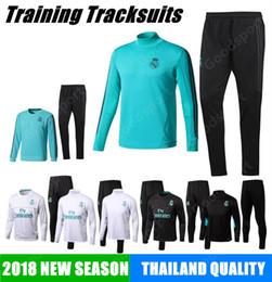 Wholesale Football Pants Black - 2018 REAL MADRID Tracksuits Training KITS outfits Pants Soccer Jerseys Ronaldo ASENSIO Football SERGIO RAMOS NEW HOT green sale