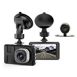 "Wholesale Wide Angle Hd Camera - 2Ch car DVR 3.0"" TFT display 170° ultra wide view angle 1080P full HD dual cams car black box G-sensor parking monitor"