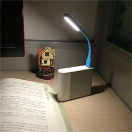 Wholesale Android Laptops China - FFFAS Mini Flexible USB Led USB Light Table Lamp Gadgets usb hand lamp For Power bank PC laptop notebook Android phone OTG cable