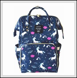 Wholesale Outdoor Cartoons - 4 Colors Unicorn Mommy Backpacks Nappies Bags Unicorn Diaper Bags Backpack Maternity Large Capacity Outdoor Travel Bags CCA9269 5pcs