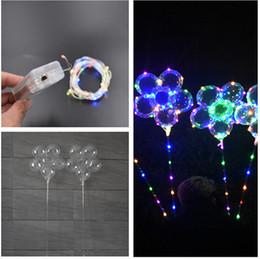 globos en forma de flor Rebajas Luminoso LED Globo con 70 cm Stick Plum Blossom Forma de la flor Transparente 3 m Cadena Rainbow luces de fiesta de bodas de vacaciones suministro de decoración 2019