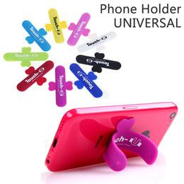 Support de téléphone touche u en Ligne-Mini Touch U One Touch Silicone Stand Doigt Anneaux Universel Support de Téléphone Portable Pour Téléphone Intelligent