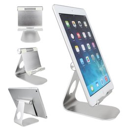 Wholesale nexus tablet pc - Tablet PC & Mobile Phone Stand Holder 270 Degree Rotate Aluminum Alloy Desktop Bracket for iPhone iPad Nexus Galaxy GPS