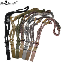 Wholesale Tactical One Point Sling - SINAIRSOFT One single Point Sling Multifunction Nylon Tactical Belt Airsoft Adjustable Strap Quick Release Buckle for Rifle Hunting Wargame