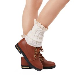 Wholesale Lace Socks For Boots Wholesale - 8 Colors Plus Size Short Lace Socks Knitting Leg Warmers Boot Cover For Women,Fashion Girls Thick Sexy Leg Warmers Free Shipping
