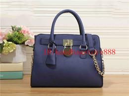 Wholesale Classic Designer Handbags - Fashion Women classic style MICHAEL KALLY handbags famous brand lock Designer luxury Bag Messenger bags Purse lady Shoulder clutch bags 865