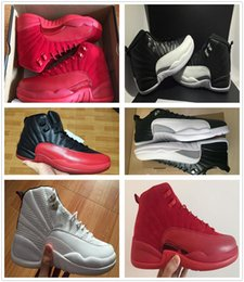 Wholesale Lime Green Basketball Shoes - High quality air retro 12 12s XII man men Basketball Shoes OVO Flu Game Gym Red taxi French Blue master playoffs sports Sneakers