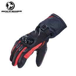 Мотоциклетные байкерские перчатки онлайн-Рок байкер утолщенные теплый мотоцикл езда перчатки анти-шлема рыцарь гонки сенсорный экран перчатки